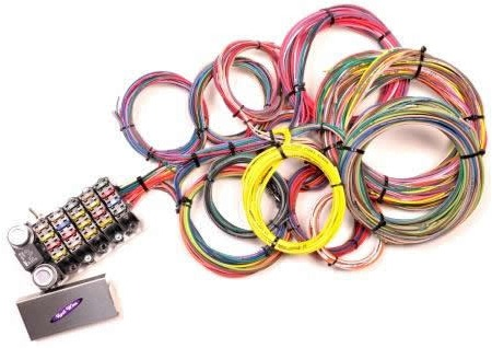 kwik wire universal street rod wire harnesses hotrod hotline 2nd generation 22 circuit harness