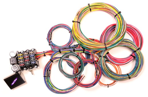 kwik wire 2nd generation 14 circuit harness hotrod hotline rh hotrodhotline com hot rod wiring harness australia universal wiring harness hot rod