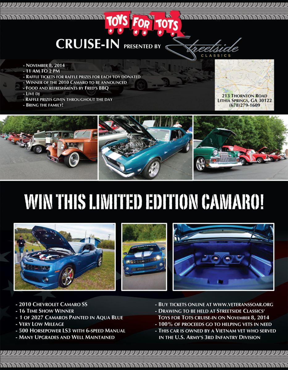 Toys For Tots Cruise-In: Win a Limited Edition 2010 Camaro!   Hotrod ...