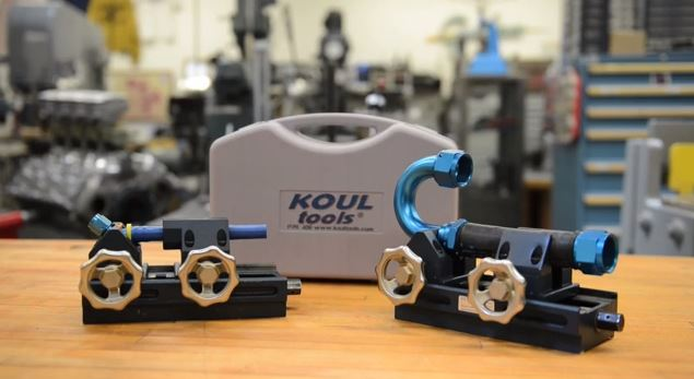 ez-on hose press from koul tools | rod line