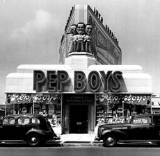 Boys Auto Parts Locations on Pep Boys Donates Historic Manny  Moe   Jack Marquee Statue   Hotrod