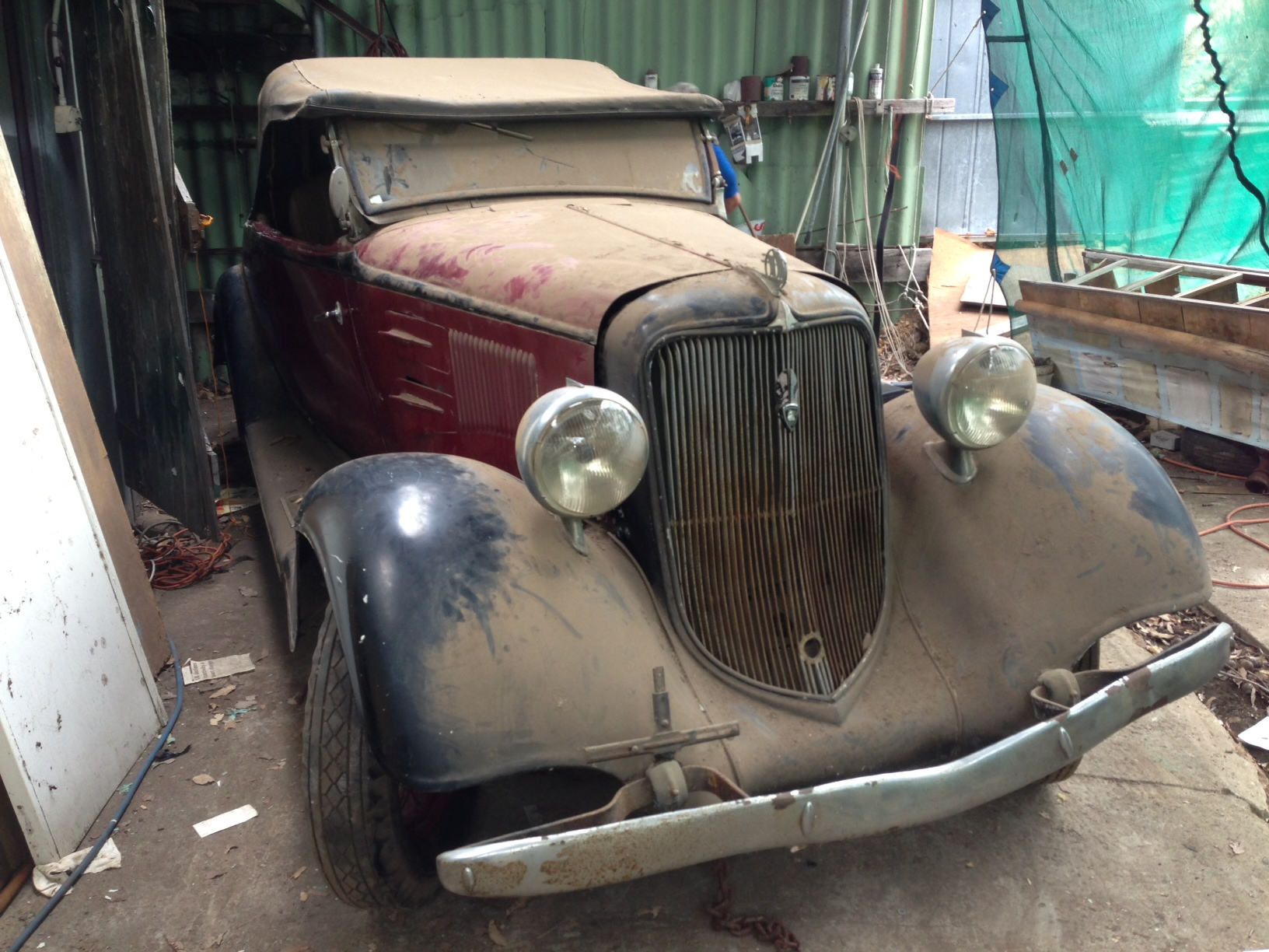 barn find from luke anderson in south australia hotrod hotline. Black Bedroom Furniture Sets. Home Design Ideas