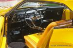 """A 3 ½"""" chopped '66 Buick Rivera GS is smothered in gold pearl & pagan gold kandy paint and has 425ci Nailhead power."""