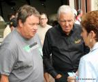 Special guests (l-r) Mike Brewer & Barry Meguiar talk with Debbie Baker.