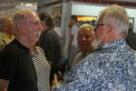 Ed Pink (L) talking with Frank Baney (Lou's son).
