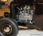 """""""BlackJack"""" had a white, padded Carson top, distressed leather upholstery and a '33 Dodge instrument panel with power provided by a '46 Ford 296ci flathead. Surprisingly owned by James Hetfield of Marietta, GA."""