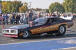 """Ron Capps driving the new '72 Dodge Charger """"Future Flash"""" qualified seventh wit"""