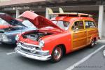 This well done '51 Woodie Ford with small block Chevy power belongs to  	Roger Roundy.