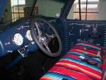 Interior of Mark Corrington's truck featuring louvered door panels made on our l