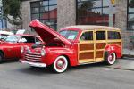 A big block Chevy powers Monty Goff's '46 Ford Woodie.