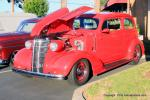 This very rare '38 Chevy 2dr Coach is ZZ383 Chevy powered, with a cool wood dash. It belongs to Gerry Harris from Santa Ana, CA.