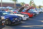 5 GT Mustangs in a row. The 5th one is white and is a real 2012 5.4L Shelby GT 500. The owner is Chris Eckert from Mission Viejo, CA.