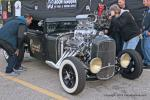 "This blown Chevy ""Mooneyes"" Ford model A pickup was a big hit."