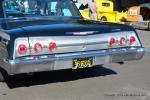 This black paint is beautiful on Nancy Hansen's '62 Chevy Impala.