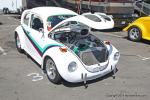 "This '71 VW Beetle is ""all motor"", packing a dual quad ""HEMI"" and a  	roll bar. The owner is Ben Roberts."