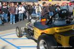 No fewer than 6 Nostalgia Top Fuel dragsters, Funny Cars and Altereds fired up (cackled) for the spectators.