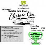 10th Annual  Boonton Main Street Classic Car Show 0