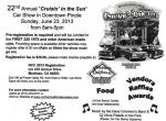 "22nd Annual ""Cruisin In The Sun"" Classic Car Show 0"