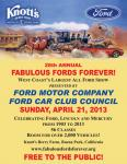28th Annual Fabulous Fords Forever April 21, 20130