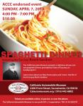 Association of California Car Clubs Spaghetti Dinner at the California Car Museum0