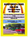 Blood Sweat & Gears Cruise Night May 31, 20130