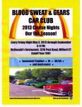 Blood Sweat & Gears Cruise Night May 31, 20130