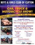 Boys & Girls Club of Clifton 3rd Annual Benefit Car, Truck & Motorcycle Show0
