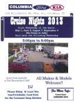 Columbia Ford-Kia Cruise Night May 1, 20130