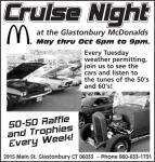 Glastonbury McDonalds Cruise Night June 25, 20130