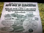 """Middle Peninsula Classic Cruisers Present the """"Relay for Life Car Show"""" 0"""