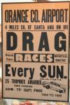 A copy of an old poster announcing the Drag Races.