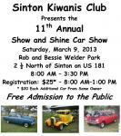Sinton Kiwanis Club's 11th Annual Show and Shine Car Show0