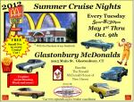 Summer Cruise Night at the Glastonbury McDonalds 0